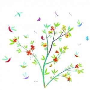 Tavaszi virágok - Faldekor (BNDD4503)