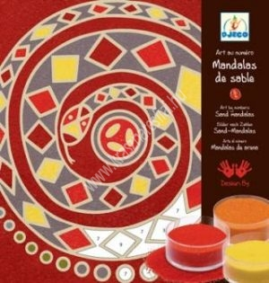 Kontinensek mandala (homokképek) - Kreatív képességfejlesztés (BNDJ08635)