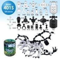 ASOBLOCK BASIC (BN401S) 320 elem, fekete, fehér színben, vegyesen - Kreativitást fejlesztő építő játék