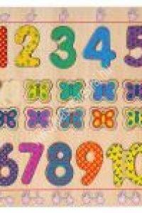 Illeszd a helyére! 1-től 10-ig Fapuzzle - Képességfejlesztő játék (DJ01801BN)
