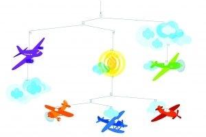 Repülők - Függő szobadísz papírból gyerekeknek (BNDD04332)