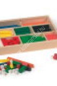 Színes rudak készlete fadobozban - Képességfejlesztő eszköz (MD-L1136)