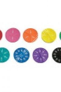 Mágneses, színes szivacs törtkorongok - Képességfejlesztő eszköz (MD-LER0608)