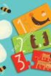Szám párosító puzzle - 12 x 2 rész - Képességfejlesztő játék a számok megismeréséhez (DJ08151BN)