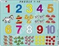 Számok 1-10-ig Maxi puzzle 10 db-os