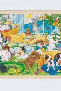 Fa kirakó: Kutyusok a kertben - Fejlesztő játék (GK57893KP)