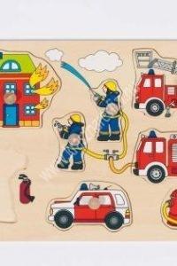 Tűzoltó fogós puzzle - Fejlesztő játék (GK 57907)