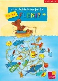 Vidám labirintusjáték Hová megy Fleki?