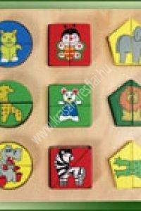 Formalap Vadállatok - Fejlesztő játék a színek, formák, állatok megismeréséhez