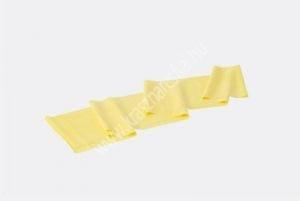 Erősítő gumiszalag 150 cm, gyenge, sárga, ajándék gyakorlat füzettel