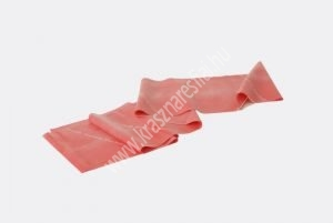 Erősítő gumiszalag 150 cm, közepes, piros, ajándék gyakorlat füzettel
