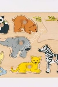 Kölyök állatok II fogós puzzle - Fejlesztő játék (GK 57874)
