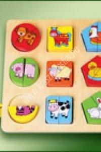 Formalap Háziállatok - Fejlesztő játék a formák, színek, állatok megismeréséhez