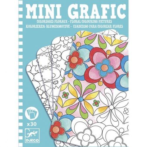 Mini Grafic Virágok színező készlet