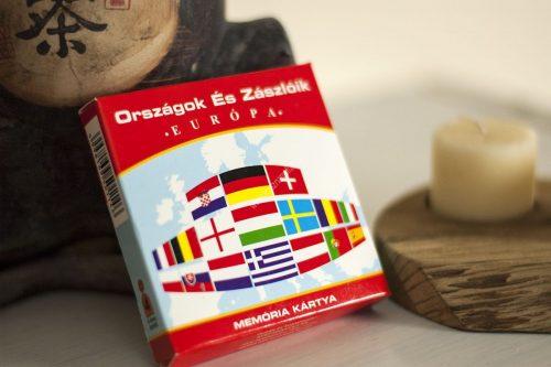 Memória kártya Országok és zászlóik Európa